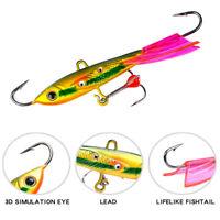 Balancer Jigging Walleye AD-Sharp  Lead Hard Hook Winter Bait Ice Fishing Lure
