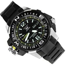 NEW MENS 200M SEIKO 5 SPORTS 23 JEWEL BLACK BEAST AUTOMATIC MAP METER SKZ231K1