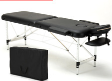 "74"" L 2 Fold Portable Massage Table Facial SPA Bed Tattoo with Free Carry Case"
