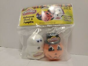Play-Doh Halloween Ghost & Pumpkin Containers filled with Play-Doh New