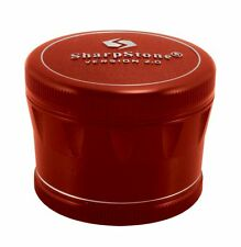 "2.5"" Sharpstone 2.0 4pc Solid Top Grinder - Red"