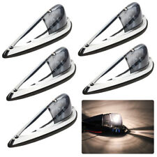 5* Smoked Lens Chrome Base Cab Roof Top Marker Running Lamps For Chevrolet Dodge