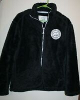 Ivory Ella Black Fleece Sherpa Jacket Women's Size Small