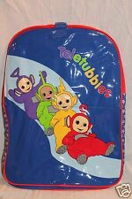 "NEW WITH TAGS TELETUBBIES PURPLE BACKPACK LAA-LAA ,PO, TINKY WINKY ,DIPSY11""X14"""