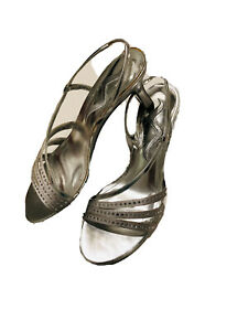 Nina Woman US Size 6 EUR 36 Heel 2.5 In Silver Shoes Leather Sole