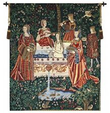"""MEDIEVAL TAPESTRY WALL HANGING NOBLE LADY TAKING BATH 46""""x34"""""""