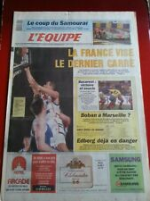 journal l'équipe 24/06/91 24 HEURES DU MANS MADZA RUGBY ROUMANIE BASKET FRANCE