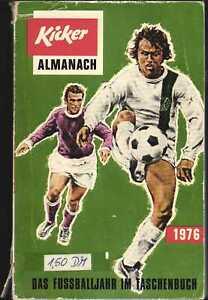 Kicker Almanach 1976 - Das Fußballjahr im Taschenbuch