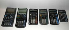 Vintage Texas Instruments Calculator Lot BAII Plus, Ti 82, Ti 83, Ti 36x, Tested