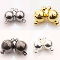 5/10Pcs Silver/Gold Plated Round Strong Magnetic Clasps Hooks Findings 6/8/10/MM