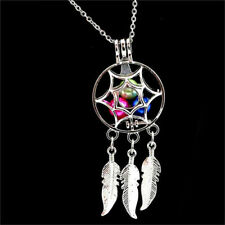 1pc Dream Catcher Pearl Cage Floating Locket Necklace No Akoya Oyster Pearl