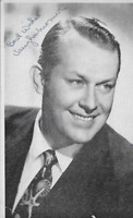 Vaughn Monroe Signed Autograph , , 3 1/2 X 6 Inches Actor and Orchestra Leader