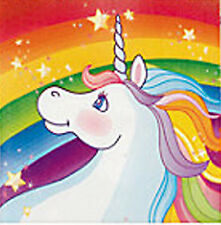 UNICORN RAINBOW PARTY Beverage Cocktail Napkins Serviettes 3 Ply Pack of 16