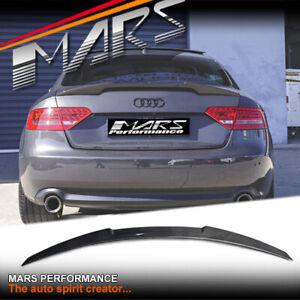 MARS Carbon Fibre Rear Trunk Boot Lip Spoiler for AUDI A5 S5 8T 4 Doors Sedan