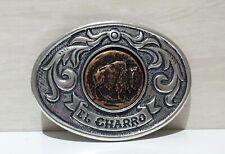 (EL CHARRO) Fibbia Made Italy forma Ovale (6.5 x 9) Cintura ANNI 80 (PANINARO)