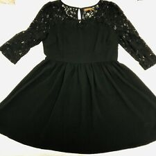 PRINCESS HIGHWAY Womens Dress Size 16 Black Lace Fit And Flare Dangerfield