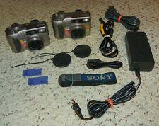 Sony Cyber-shot DSC-S75 3.2 MP Digital Camera w/ 3x Optical Zoom - Silver - (X2)
