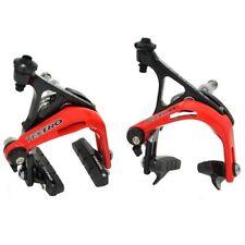 TEKTRO R741 Aluminum Road Bike Dual Pivot Caliper Brake Set , Black x Red
