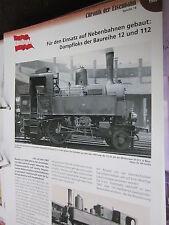 Chronik der Eisenbahn 1B: 1907 Österreich Nebenbahn Loks Baureihe 12 und 112