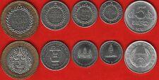 Cambodia set of 5 coins: 5 sen - 500 riels 1979-1994 UNC