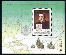 Hungría 1991 Columbus/Veleros/Explorador/Náutica/Historia/mapas m/s (n29413)