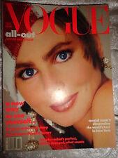 Vogue 10/1985 Paulina Porizkova Christy Turlington Irving Penn Helmut Newton