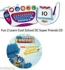 Fisher Price Fun 2 Learn Computer Cool School Software DC Super Friends Game CD