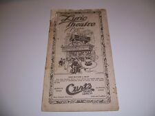 1920's ? PLAYBILL FOLLIES OF THE DAY LYRIC THEATRE GERTRUDE HAYES CHESTER NELSON