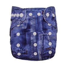 ALVABABY Bamboo Cloth Diapers Washable Reuseable Pocket Nappy+1 Bamboo Insert