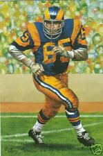 Tom Mack Rams unsigned Goal Line Art Card in Toploader