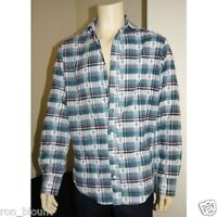 MARKS & SPENCER COLLARED COTTON MULTI LONG SLEEVE CHECK TARTAN SHIRT SIZE 15-17