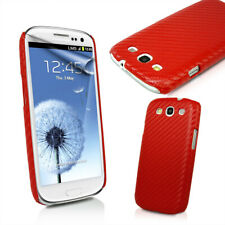 Red Carbon Fiber Back Case For for Samsung I9300 Galaxy S3 III  + Screen Protect