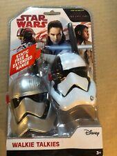 Disney Star Wars Walkie Talkies Set Static Free Extended Range Last Jedi SW-202