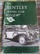 BENTLEY DRIVERS CLUB REVIEW OCT 1970 #98 KENSINGTON GARDENS 1970 WAGGA WAGGA JUB