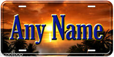 Sunset Any Name Personalized Sun Goes Down Novelty Car Auto License Plate
