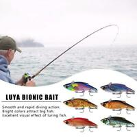 Fishing Lures Hard Bait Lure Crankbait Fish Bass Wobbler Hooks Treble Bait E3S6