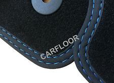 Für Renault Captur 5.13-5.17 Fußmatten Velours schwarz Nubukband Doppelnaht blau