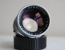 Leica 50mm Summicron F/2 Rigid Lens for Leica M (With Leica Leather Case)
