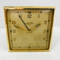 Vintage Enicar Travel Alarm Clock Spares &/Or Repairs Restoration