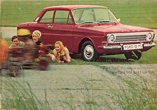 FORD TAUNUS 12m & 15m 1968 UK Opuscolo Vendite sul Mercato PIEGA