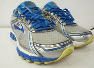 Brooks Adrenaline GTS 15 Women Athletic Running Shoes Sz 9.5 D Blue/Gray/Silver