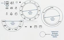 3 Dials Symbols Oven Cooker Temperature Timer Grill Gradient Adhesive Dial Label