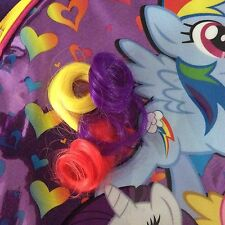 MLP My Little Pony Backpack Purple Pink Fun Pony Hair Tail School Book Bag Tote