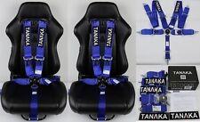 "2 X TANAKA BLUE 5 POINT CAMLOCK RACING SEAT BELT HARNESS 3"" SFI 16.1 CERTIFIED"