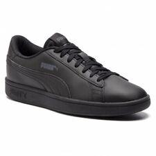 Zapatos de Mujer Niños PUMA Smash V2L Zapatillas Deportivo Piel Blanco Tenis