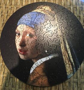 Liberty Puzzles Classic Wooden Jigsaw Girl w/ a Pearl Earring,106 pcs MINT