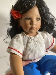 "Danbury Mint PORCELAIN LATINA DOLL ""Maria"" By Artist Kelly RuBert Rare NWT"