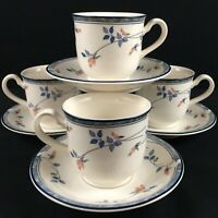 Set of 4 VTG Cups and Saucers Noritake Keltcraft Eastfair 9171 Floral Ireland