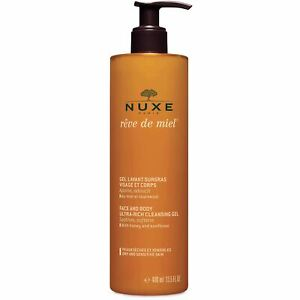 Nuxe Reve De Miel Ultra Rich Cleansing Gel For Face And Body 400ml