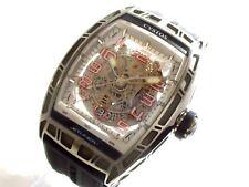 Auth CVSTOS Jalangejijetoraina CVT-JET-SL ST Silver Men's Wrist Watch  003